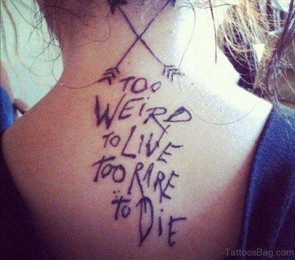 Wording Tattoo On Nape