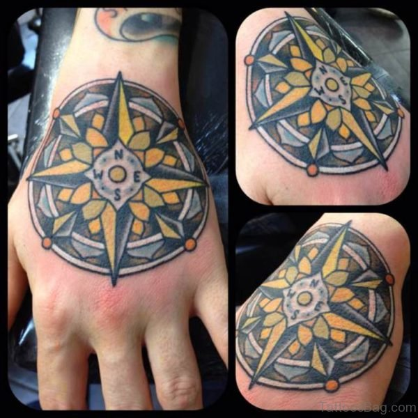 Yellow Mandala Tattoo
