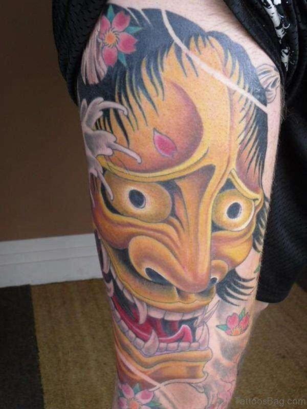 Yellow Mask Tattoo