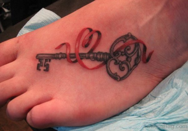 Attractive Key Tattoo
