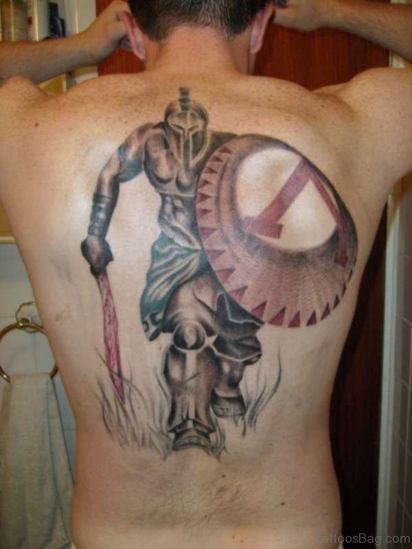 Celtic warrior tattoos on back
