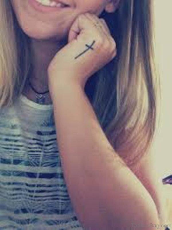 Cross Tattoo For Girls