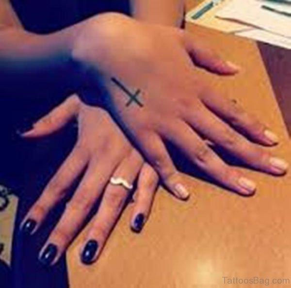 Cute Cross Tattoo