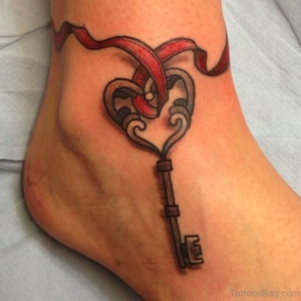 Heart Key Tattoo