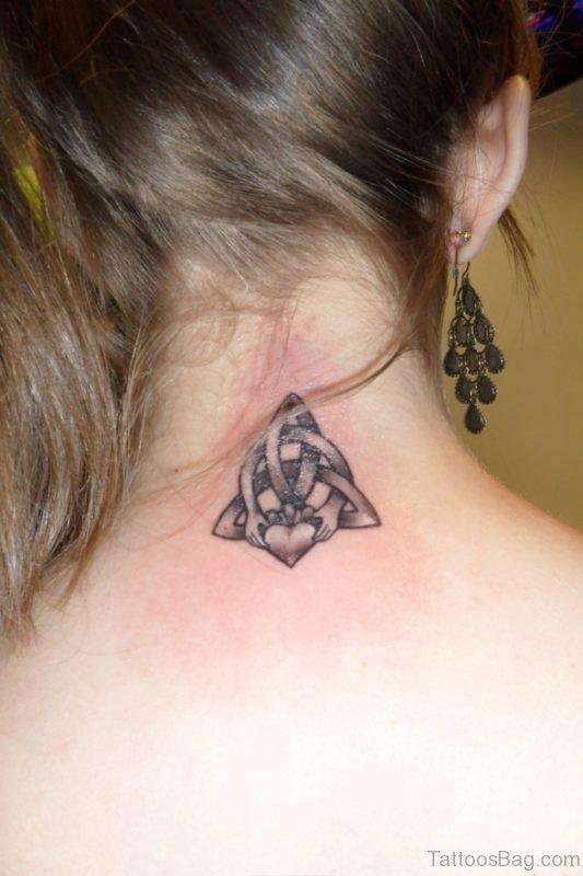 Knot Tattoo Design On Nape