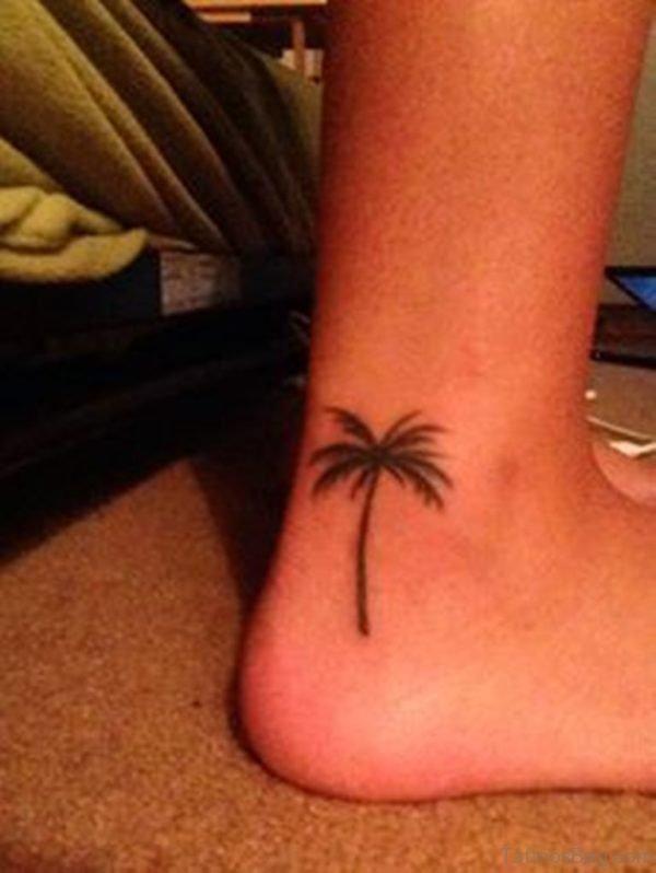 Palm Tree Tattoo On Foot