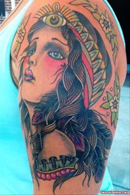 Adorable Gypsy Tattoo