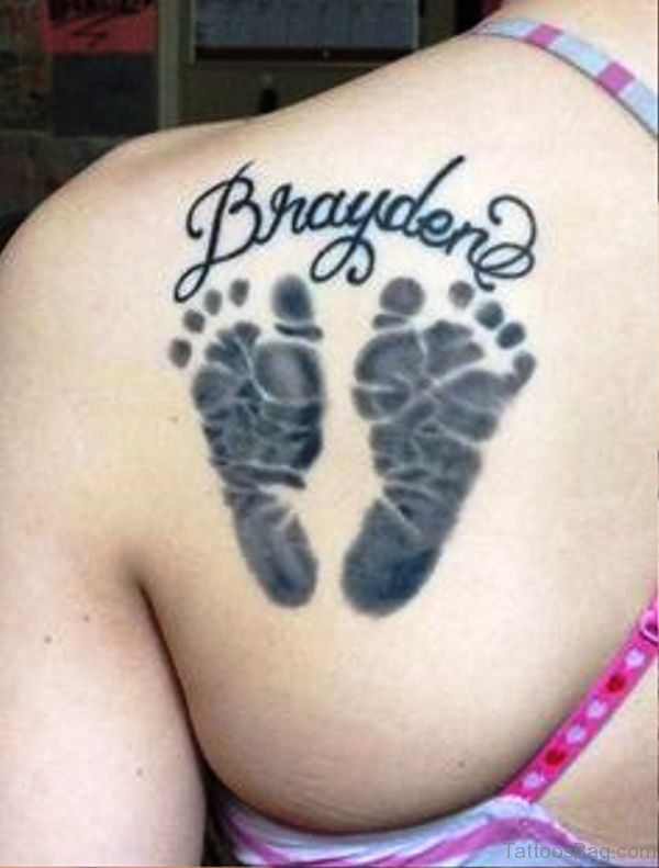 Amazing Baby Footprints Tattoo 1