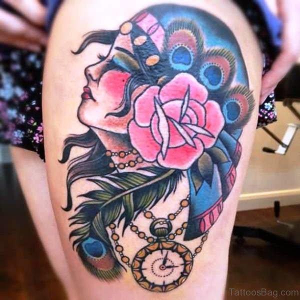 Amazing Gypsy Tattoo Design