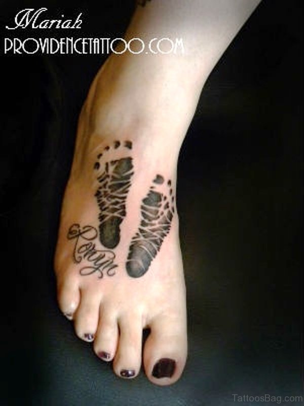 Attractive Baby Footprint Tattoo