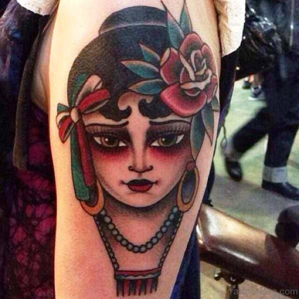 Attractive Gypsy Tattoo Design