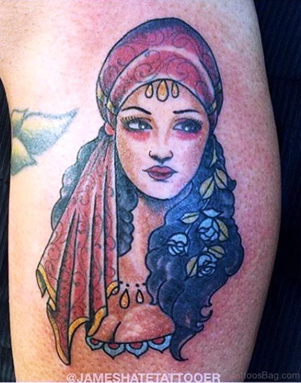 Awesome Gypsy Tattoo