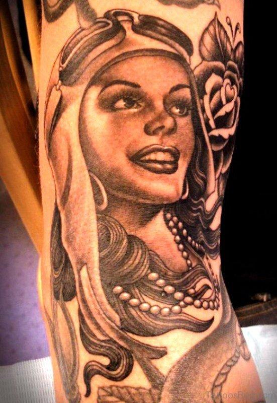 Awesome Gypsy Tattoo Design