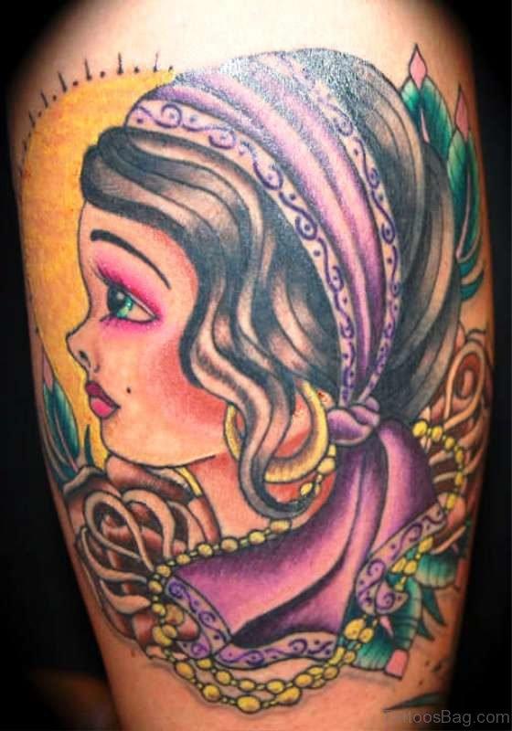 Best Gypsy Tattoo Design