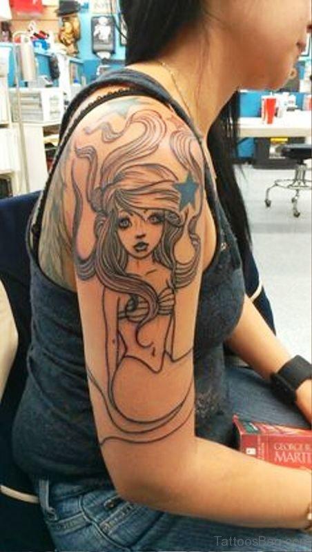 Best Mermaid Tattoo On Shoulder