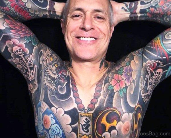 Bony Skeleton Tattoo On Armpit