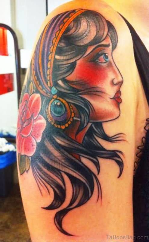 Classic Gypsy Tattoo Design