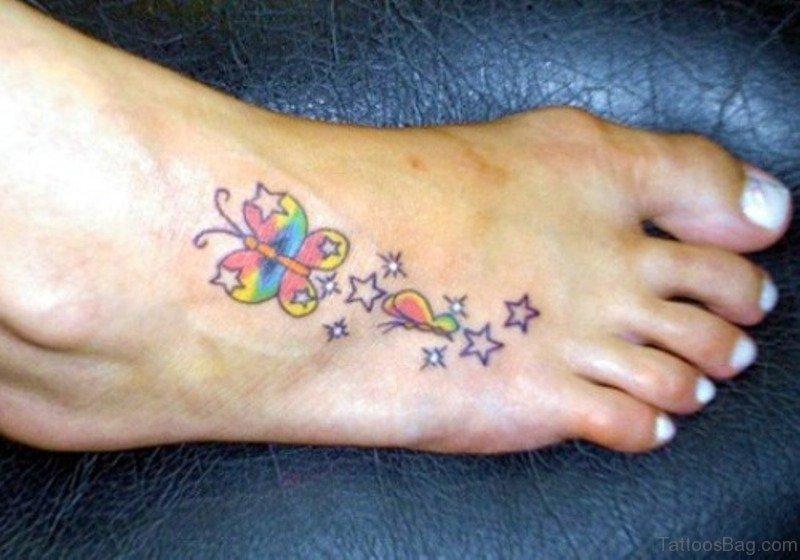Congratulate, Star tattoo on foot