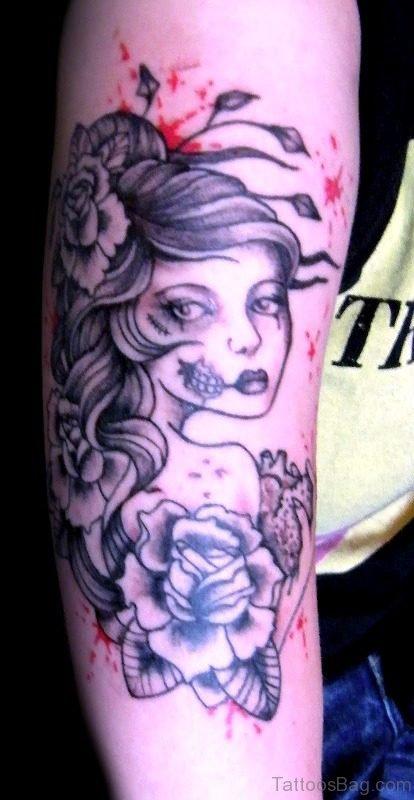 Cool Gypsy Tattoo Design