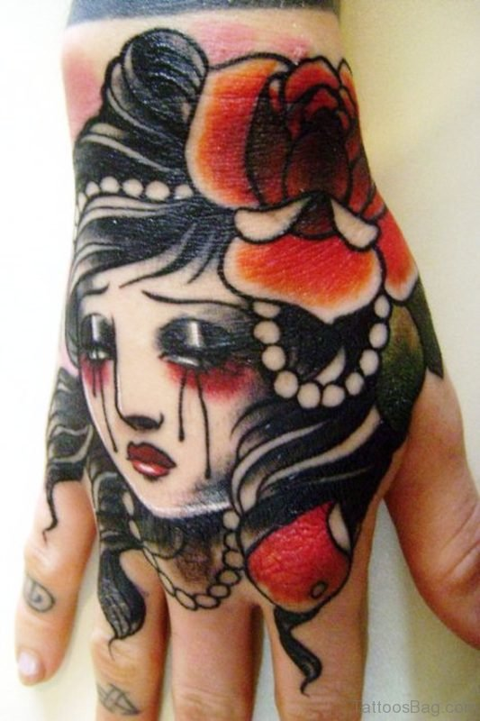 Dead Gypsy Tattoo On Hand