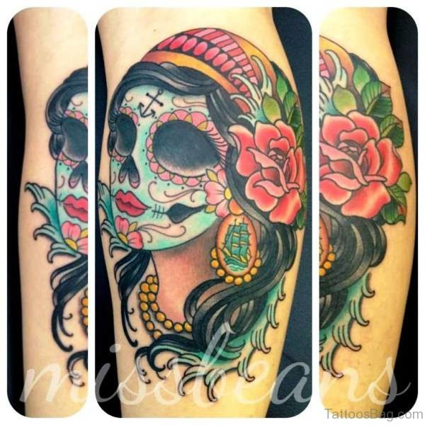 Delightful Gypsy Tattoo Design