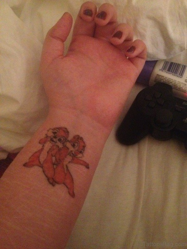 Disney Brown Tattoo On Wrist