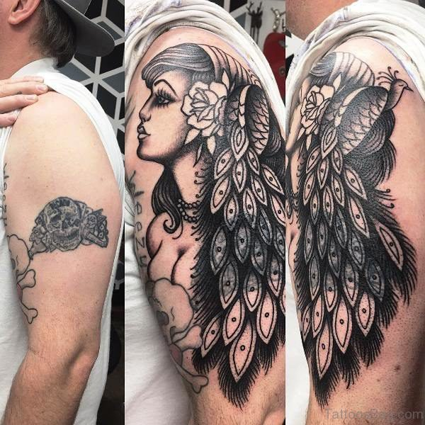 Elegant Gypsy Tattoo On Shoulder