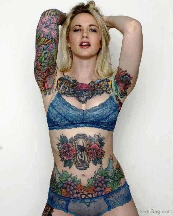 Excellent Tattoo On Armpit