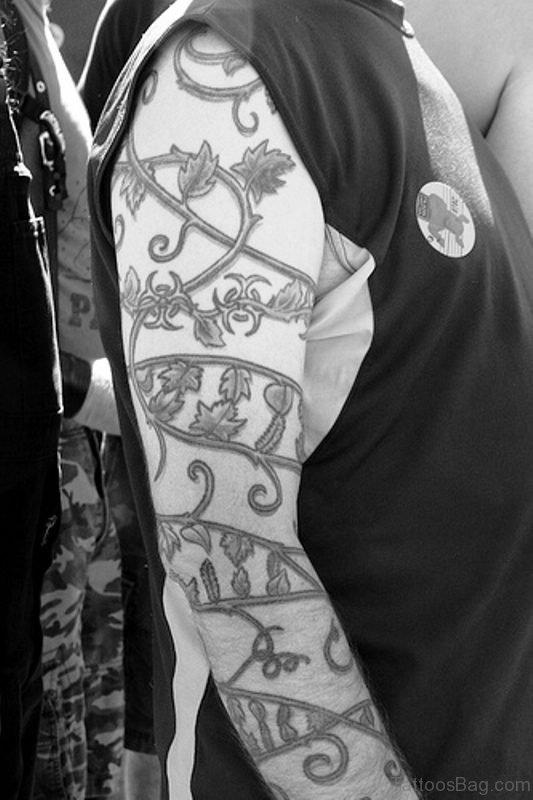 Excellent Vine Tattoo On Arm