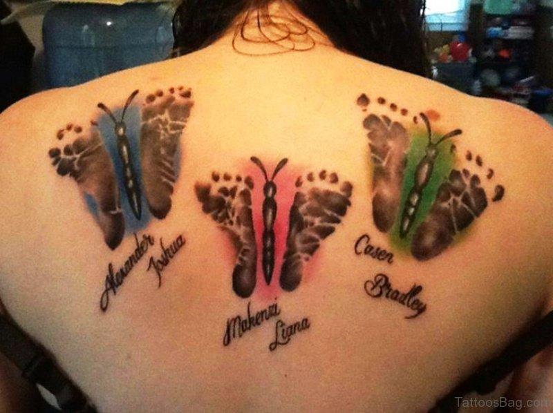 064a77c0a7a05 Fabulous Butterfly Design Footprints Tattoo