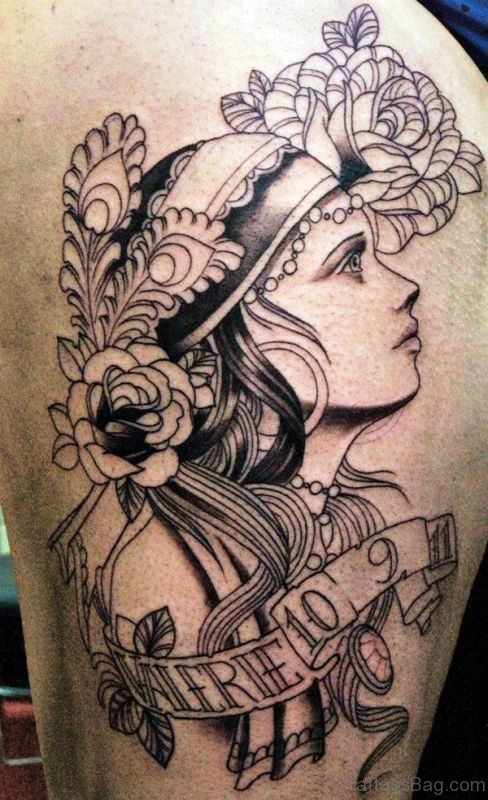 Fantastic Gypsy Tattoo On Shoulder