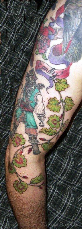 Great Vine Tattoo On Arm