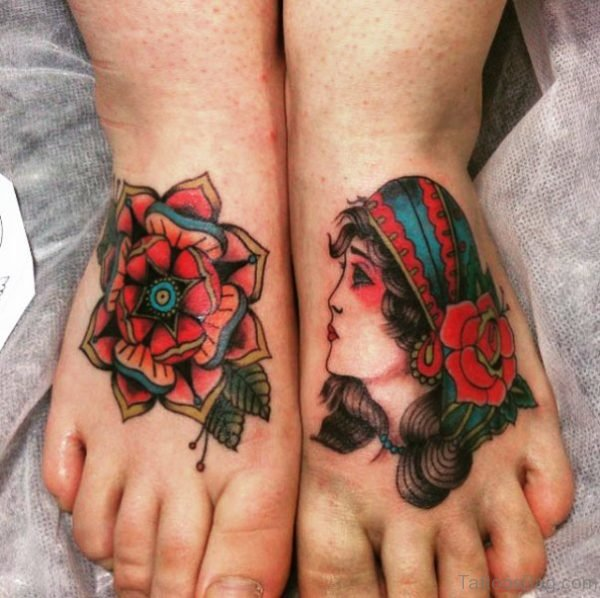 Gypsy Tattoo On Foot