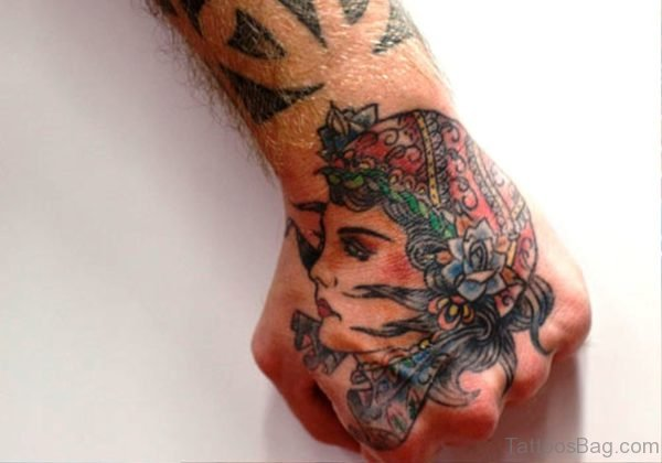 Gypsy Tattoo On Hand