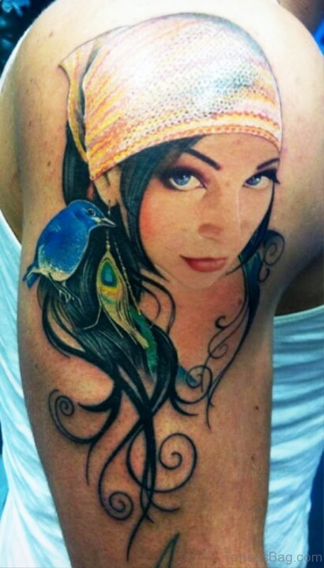 Gypsy Women Tattoo Design