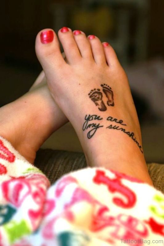 Little Baby Footprints Tattoo Design