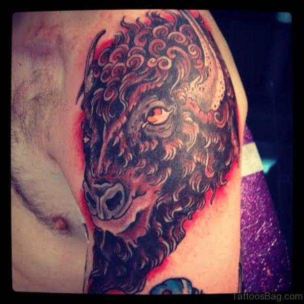 Lovely Buffalo Tattoo