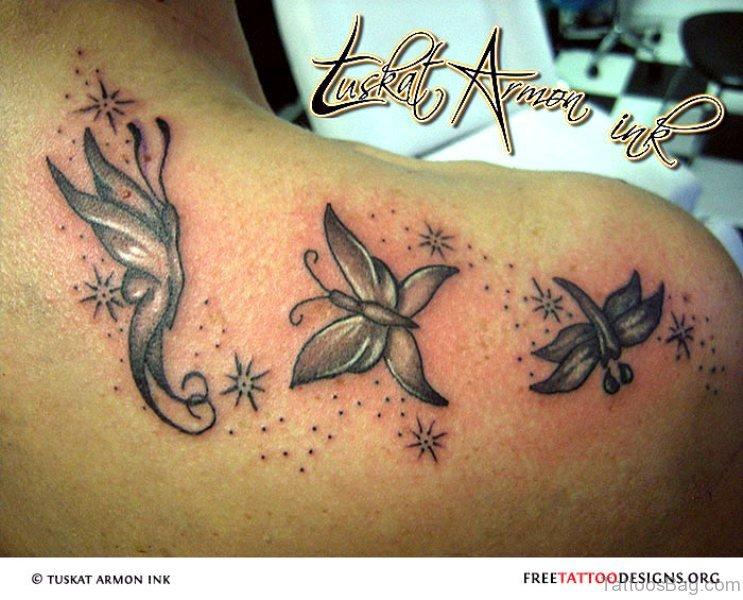 17 best butterfly and star tattoo on shoulder. Black Bedroom Furniture Sets. Home Design Ideas