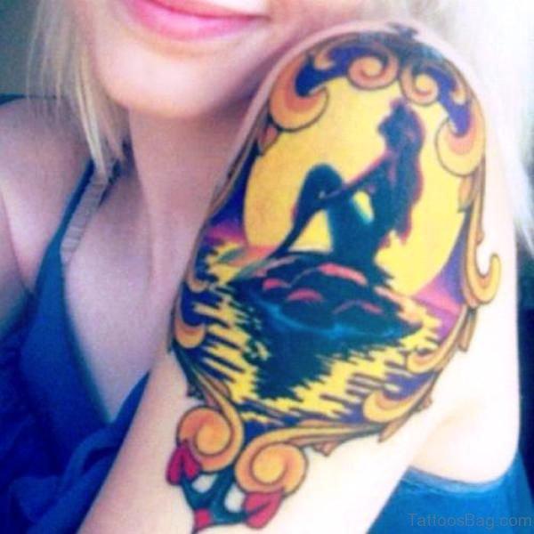 Mermaid Tattoo On Shoulder Image