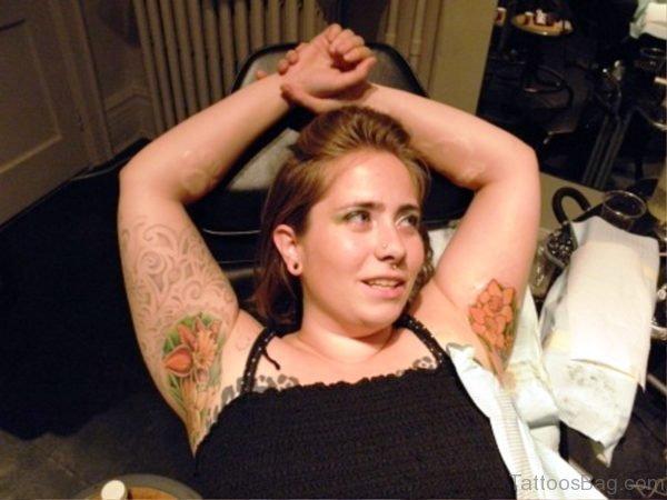 Orange Armpit Tattoo