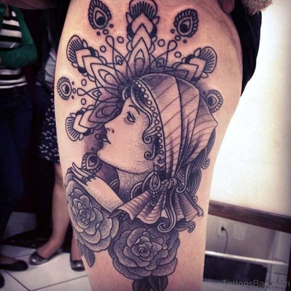 Perfect Gypsy Tattoo On Shoulder