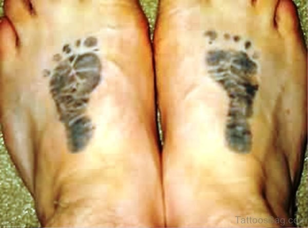 Photo Of Baby Footprint Tattoo