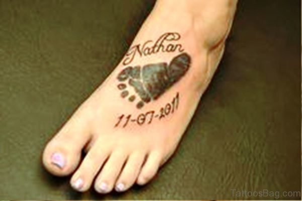 Pic Of Baby Footprint Tattoo