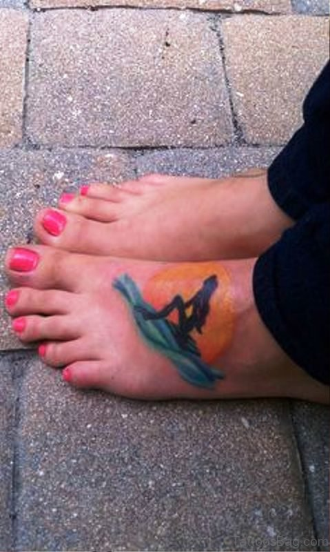 Pic Of Mermaid Tattoo On Foot