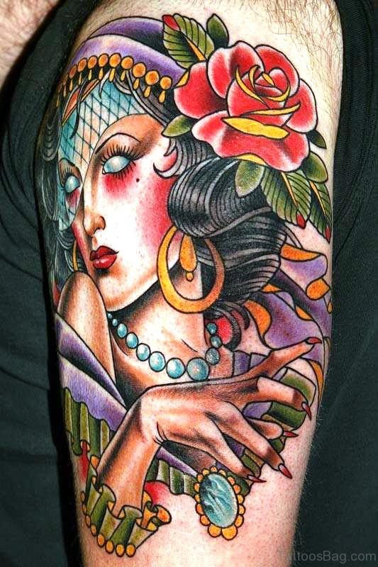 Stunning Gypsy Tattoo