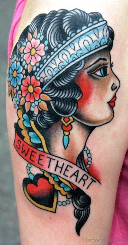Sweetheart Gypsy Tattoo Design