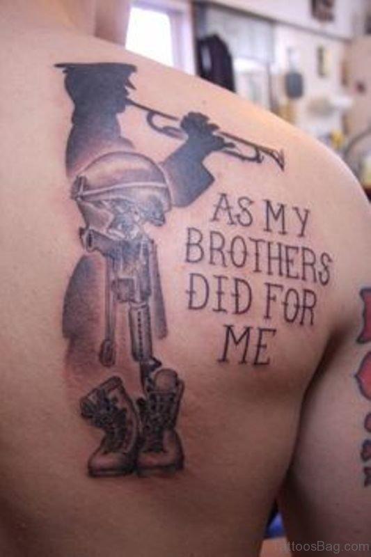 Wonderful Brother Tattoo On Shoulder
